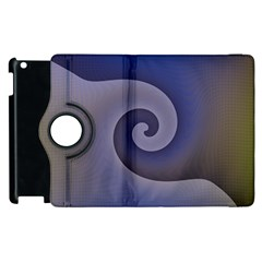 Logo Wave Design Abstract Apple iPad 2 Flip 360 Case