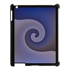 Logo Wave Design Abstract Apple iPad 3/4 Case (Black)