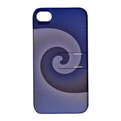 Logo Wave Design Abstract Apple iPhone 4/4S Hardshell Case with Stand
