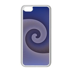 Logo Wave Design Abstract Apple iPhone 5C Seamless Case (White)