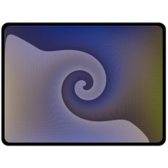 Logo Wave Design Abstract Double Sided Fleece Blanket (Large)