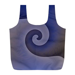 Logo Wave Design Abstract Full Print Recycle Bags (L)