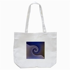 Logo Wave Design Abstract Tote Bag (White)