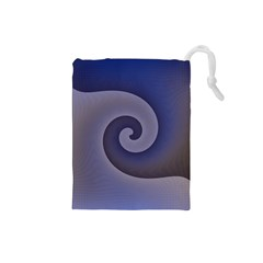 Logo Wave Design Abstract Drawstring Pouches (Small)
