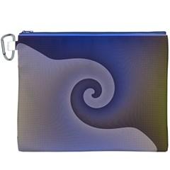 Logo Wave Design Abstract Canvas Cosmetic Bag (xxxl)