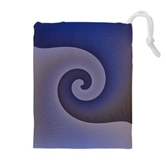 Logo Wave Design Abstract Drawstring Pouches (extra Large)