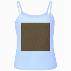 Pattern Honeycomb Pattern Brown Baby Blue Spaghetti Tank