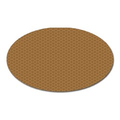 Pattern Honeycomb Pattern Brown Oval Magnet