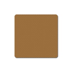 Pattern Honeycomb Pattern Brown Square Magnet