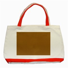 Pattern Honeycomb Pattern Brown Classic Tote Bag (Red)