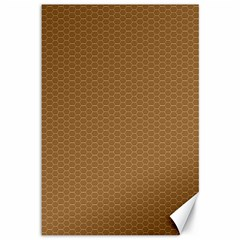 Pattern Honeycomb Pattern Brown Canvas 12  X 18