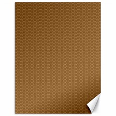 Pattern Honeycomb Pattern Brown Canvas 18  x 24