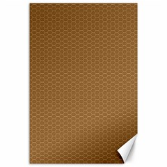 Pattern Honeycomb Pattern Brown Canvas 24  x 36