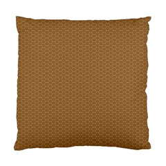 Pattern Honeycomb Pattern Brown Standard Cushion Case (One Side)