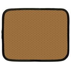 Pattern Honeycomb Pattern Brown Netbook Case (XXL)