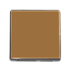 Pattern Honeycomb Pattern Brown Memory Card Reader (square)