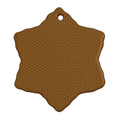 Pattern Honeycomb Pattern Brown Ornament (Snowflake)