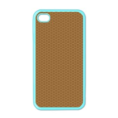 Pattern Honeycomb Pattern Brown Apple iPhone 4 Case (Color)