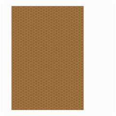 Pattern Honeycomb Pattern Brown Small Garden Flag (Two Sides)