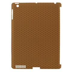 Pattern Honeycomb Pattern Brown Apple iPad 3/4 Hardshell Case (Compatible with Smart Cover)