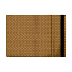 Pattern Honeycomb Pattern Brown Apple iPad Mini Flip Case