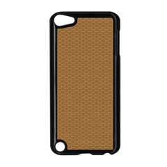 Pattern Honeycomb Pattern Brown Apple iPod Touch 5 Case (Black)