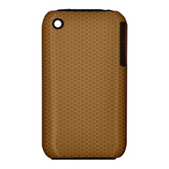 Pattern Honeycomb Pattern Brown iPhone 3S/3GS