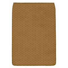 Pattern Honeycomb Pattern Brown Flap Covers (S)