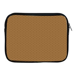 Pattern Honeycomb Pattern Brown Apple iPad 2/3/4 Zipper Cases