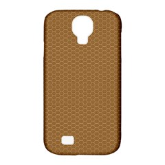 Pattern Honeycomb Pattern Brown Samsung Galaxy S4 Classic Hardshell Case (pc+silicone)