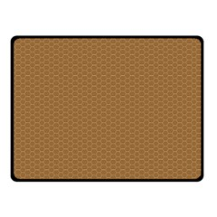 Pattern Honeycomb Pattern Brown Double Sided Fleece Blanket (Small)
