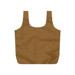 Pattern Honeycomb Pattern Brown Full Print Recycle Bags (S)