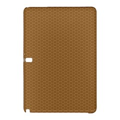 Pattern Honeycomb Pattern Brown Samsung Galaxy Tab Pro 12.2 Hardshell Case
