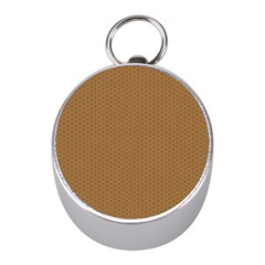 Pattern Honeycomb Pattern Brown Mini Silver Compasses