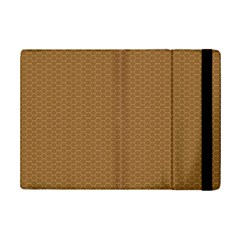 Pattern Honeycomb Pattern Brown iPad Mini 2 Flip Cases