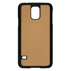 Pattern Honeycomb Pattern Brown Samsung Galaxy S5 Case (Black)