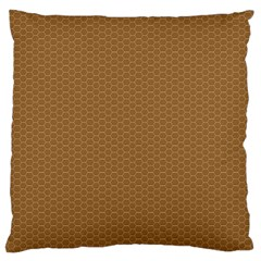 Pattern Honeycomb Pattern Brown Large Flano Cushion Case (Two Sides)
