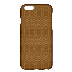 Pattern Honeycomb Pattern Brown Apple Iphone 6 Plus/6s Plus Hardshell Case