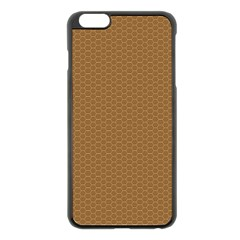 Pattern Honeycomb Pattern Brown Apple iPhone 6 Plus/6S Plus Black Enamel Case