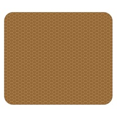 Pattern Honeycomb Pattern Brown Double Sided Flano Blanket (Small)