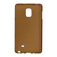 Pattern Honeycomb Pattern Brown Galaxy Note Edge
