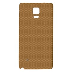 Pattern Honeycomb Pattern Brown Galaxy Note 4 Back Case