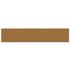 Pattern Honeycomb Pattern Brown Flano Scarf (small)