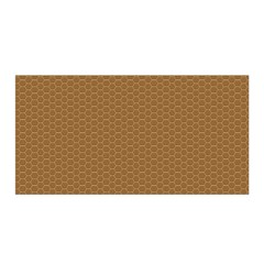 Pattern Honeycomb Pattern Brown Satin Wrap