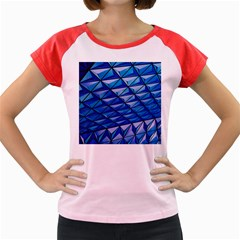 Lines Geometry Architecture Texture Women s Cap Sleeve T-Shirt