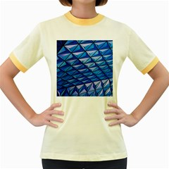 Lines Geometry Architecture Texture Women s Fitted Ringer T Shirts