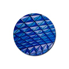 Lines Geometry Architecture Texture Rubber Round Coaster (4 pack)