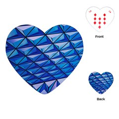 Lines Geometry Architecture Texture Playing Cards (Heart)