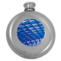 Lines Geometry Architecture Texture Round Hip Flask (5 oz)