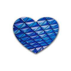Lines Geometry Architecture Texture Heart Coaster (4 Pack)
